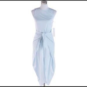Kaelen Front Tied Blue Dress